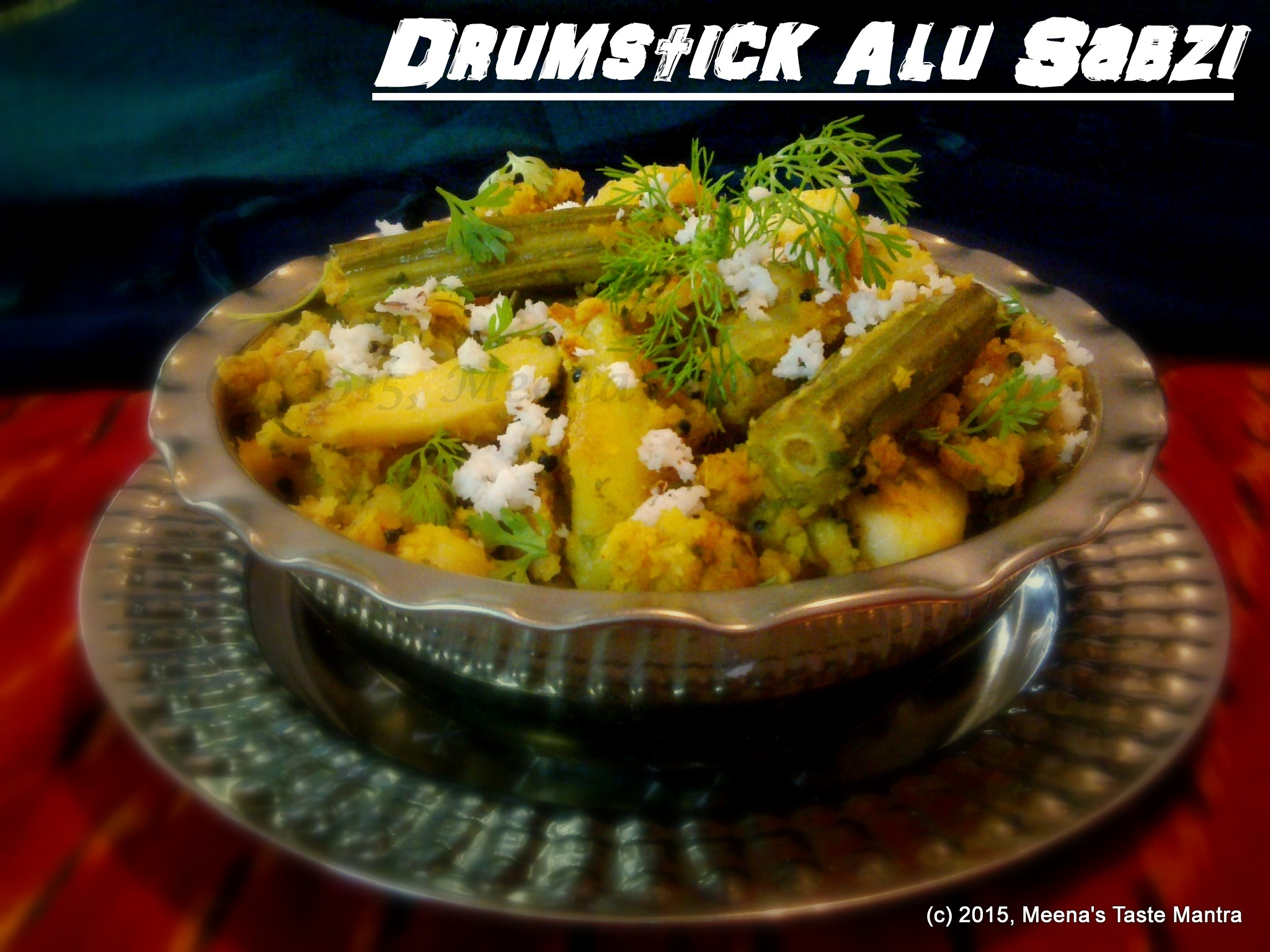 Drumstick Alu Sabzi - A traditional Gujrati dish made with a special Spice Mix!