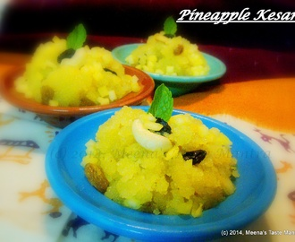 Pineapple Kesari | Pineapple Semolina Halwa