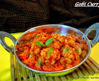 Gobi Curry | Cauliflower Curry