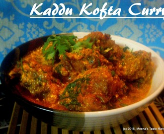 Kaddu Kofta Curry - an aromatic and delicious Indian Curry with Red Pumpkin Koftas