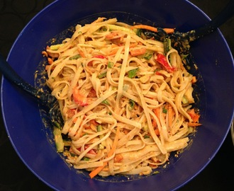 Thai Noodle Salad with Peanut Dressing