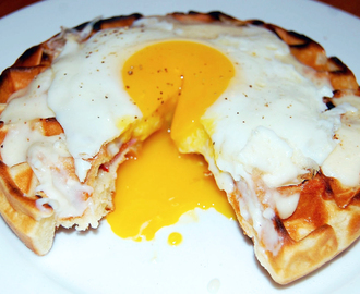 Croque Monsieur Waffles for Dad (and Mom)
