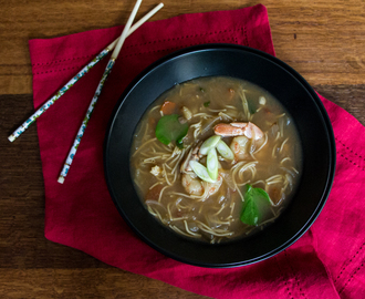 Spicy Asian Shrimp Soup: #ProgressiveEats