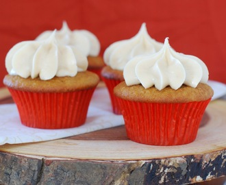 Applesauce Cupcakes with Salted Caramel Buttercream