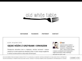 Old White Table