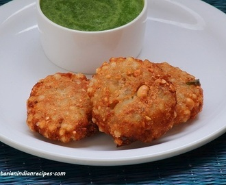 Sabudana vada recipe for navratri fasting-How to make sabudana vada
