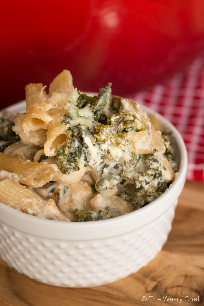 Chicken and Kale White Pasta Casserole