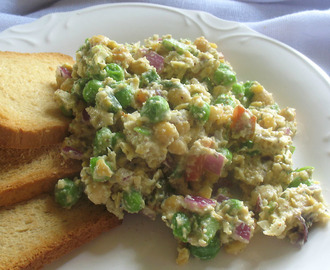Chickpea Salad with Vegan Mayonnaise