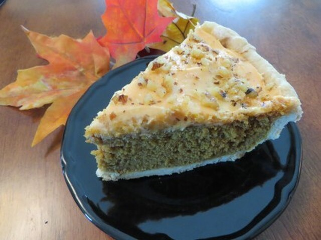Fall Harvest Pumpkin Spice Cake Pie