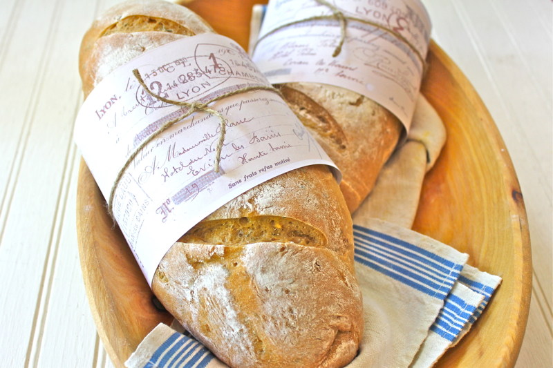Garlic and Rosemary Baguettes