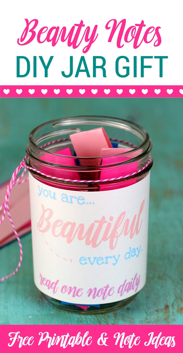 Choose Beautiful: Beauty Notes DIY Jar Gift