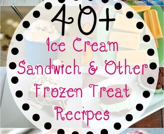 40+ Ice Cream Sandwich & Frozen Treat Recipes