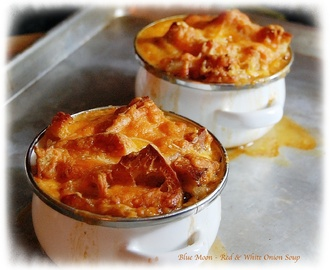 Red & White Onion & Blue Moon Baked Onion Soup