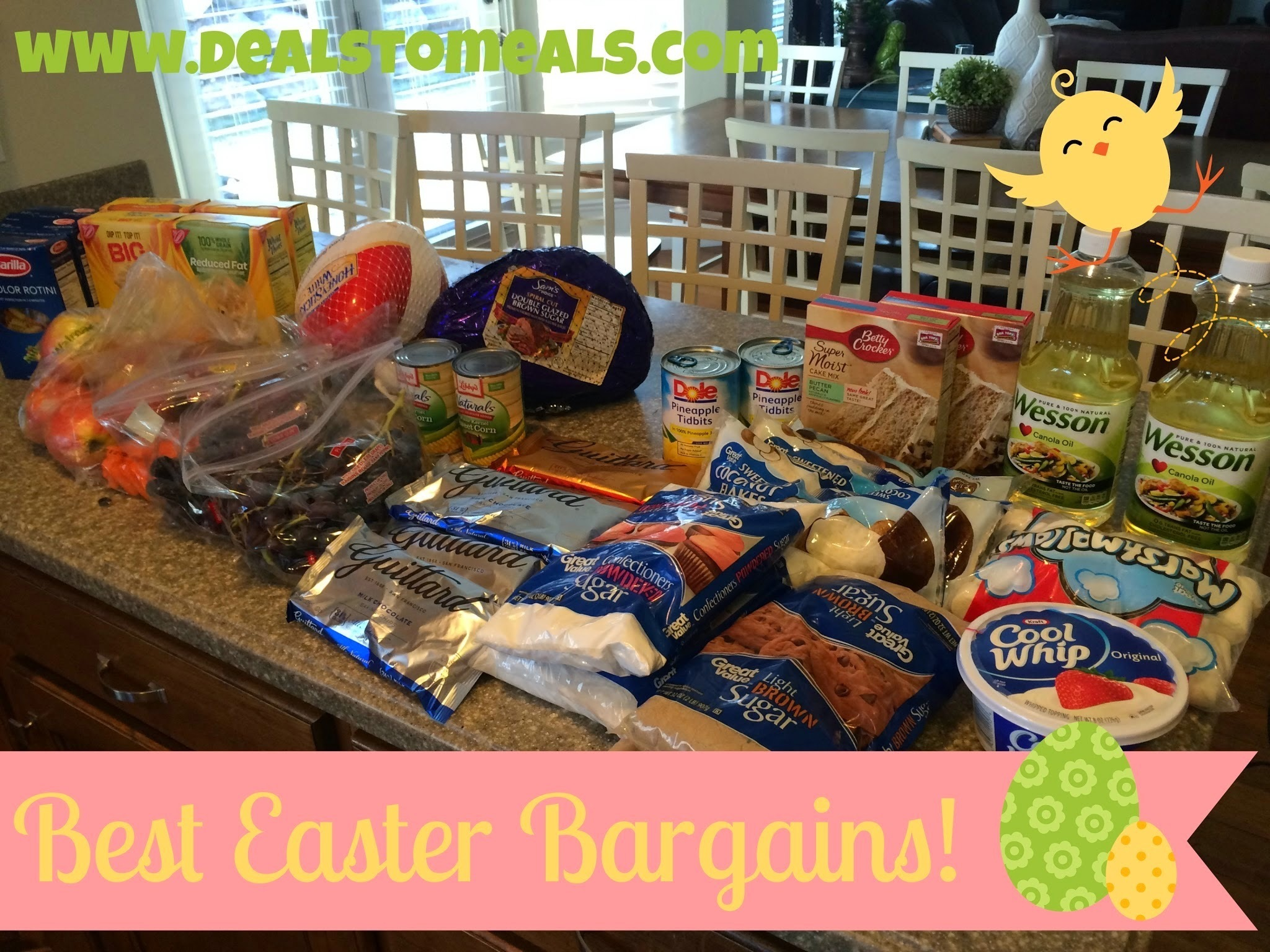 Best Easter Grocery Bargains + Your Entire Meal for under $50!
