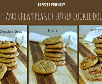 Freezer Friendly Soft and Chewy Peanut Butter Cookie Dough