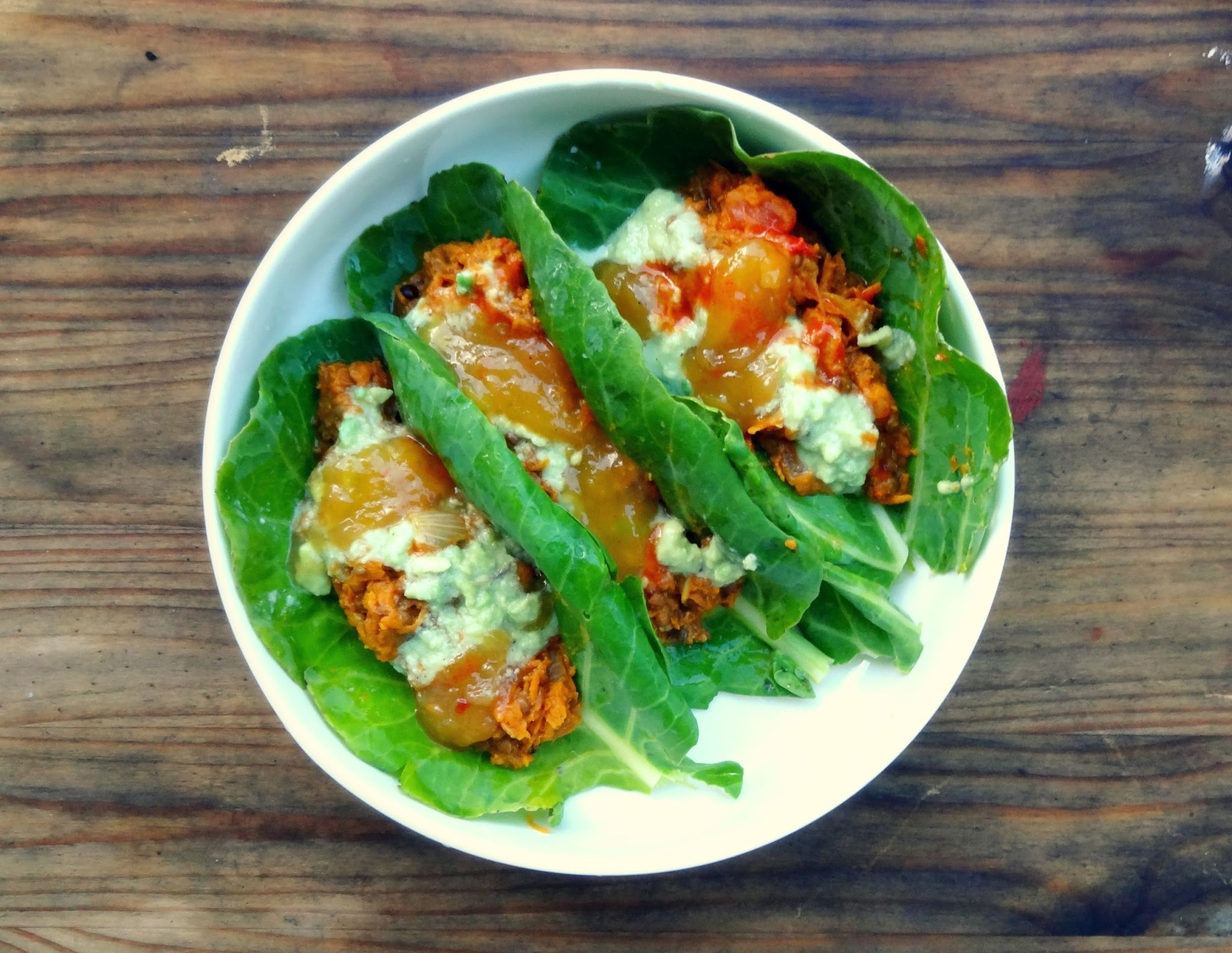 Indian Fusion Green Tacos (gluten-free, vegan, grain-free)