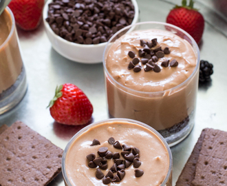 Individual Nutella Cheesecake Mousse