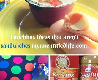 Lunches Without Sandwiches {#12DaysOf Lunch Ideas}