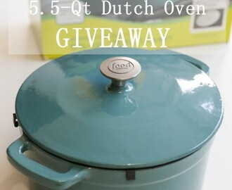 {Giveaway} 5.5-Qt Enamel Cast Iron Dutch Oven ($99 Value)