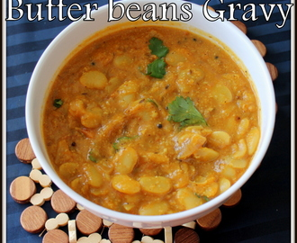 Lima Beans Korma | Butter beans kurma | Lima Beans gravy recipes | Lima beans curry | south indian veg curries for rice and rotis