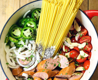 One-Pot Mexican Pasta and Sausage (with NEW VIDEO)