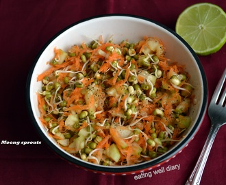 The Best way to make Moong/ Mung sprouts and a super-healthy salad