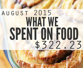 Food Prices and What We Spent on Groceries: August 2015