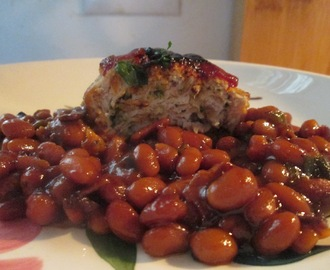 Mini Turkey Meat Loaves and Baked Beans