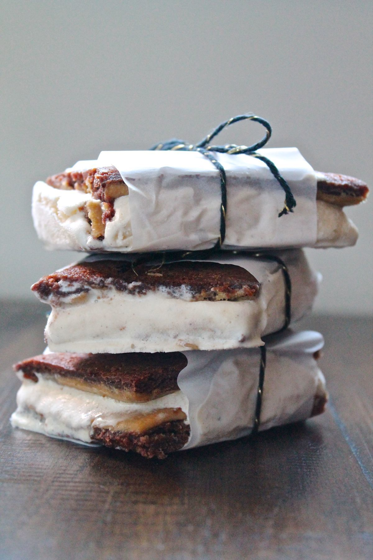 Caramel Brownie Ice Cream Sandwiches