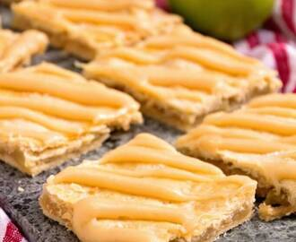 Apple Bars with Caramel Frosting
