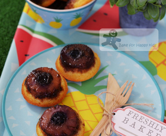 Little Caramel Pineapple Upside-down Cake made with the famous recipe Mrs Ng SK's Butter Cake