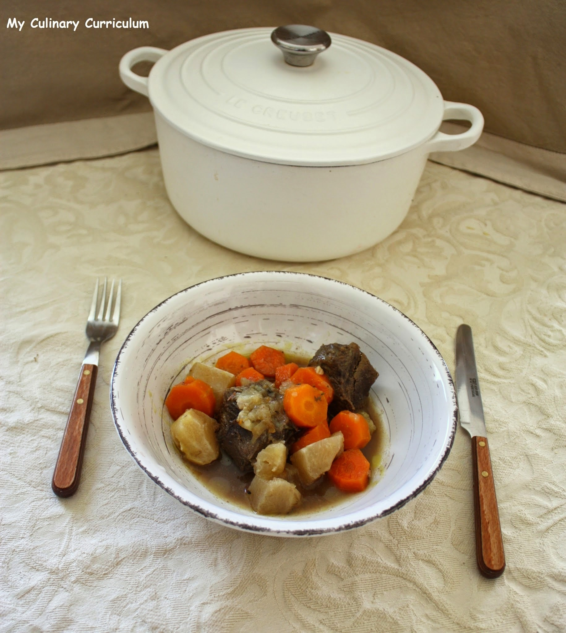 Boeuf braisé aux carottes et navets (Braised beef with carrots and turnips)