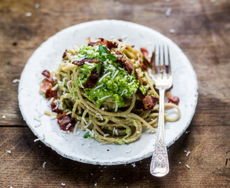Cooking: Skinny Carbonara from {Everyday Super Food by Jamie Oliver}