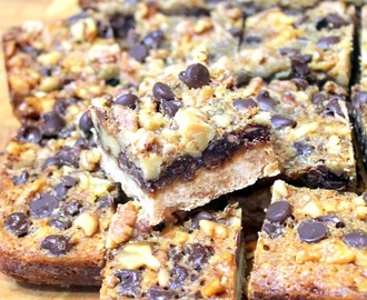Chocolate Walnut Pie BARS - 52 Cookie Recipes for Church PotLuck and Catering
