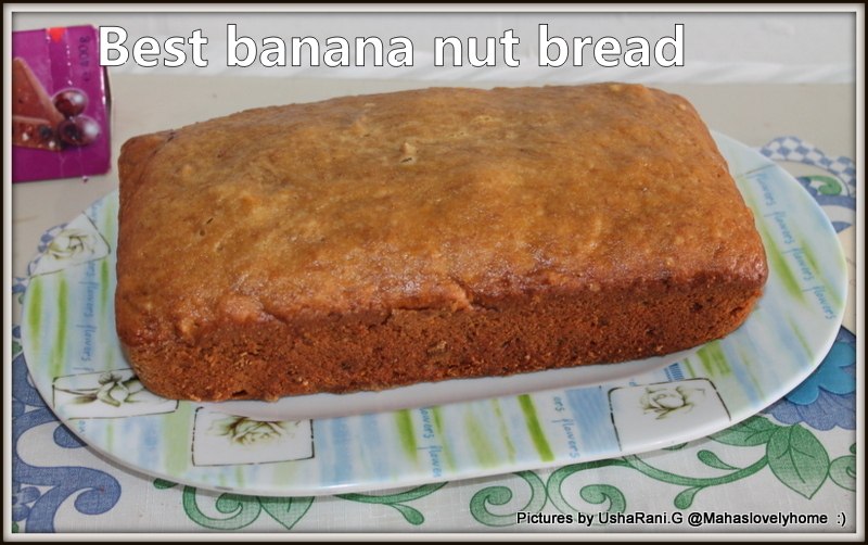 World`s best banana nut Bread | Banana Bread for break fast | Wheat flour banana nut bread recipe with step by step pictures