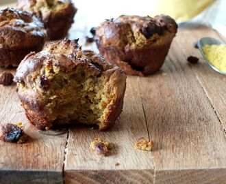 Squash Flour and Raisin Muffins (nut and coconut free)