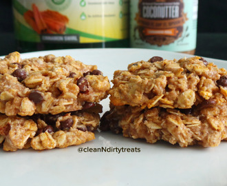 Easy Choco Chip Cinnamon Roll Oatmeal Protein Cookies
