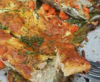 Baked Salmon with Cheese