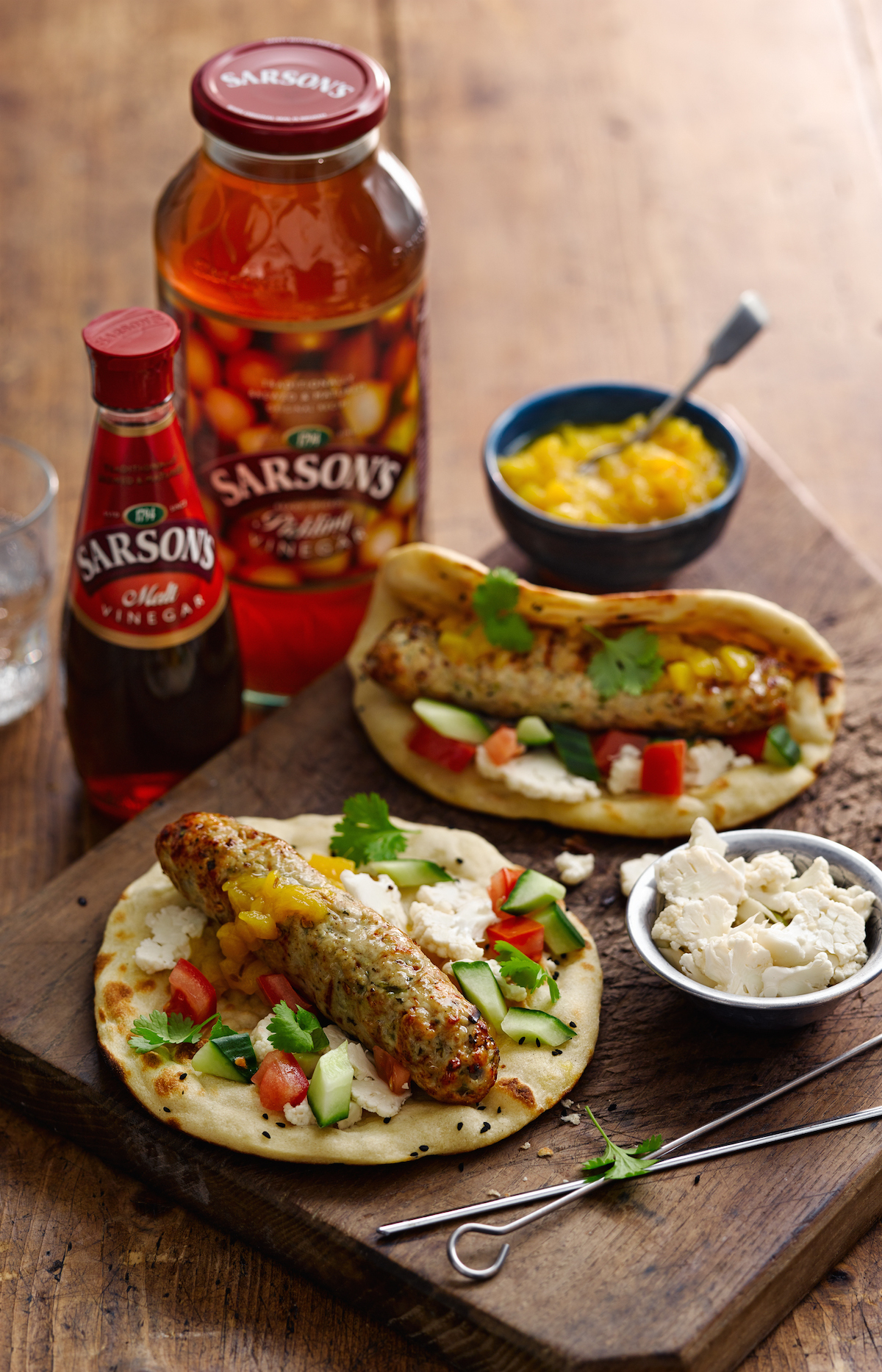Chicken Seekh Kebab with Malted Mango Chutney