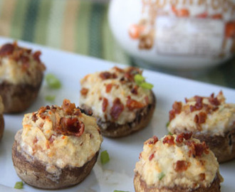 Bacon Ricotta Stuffed Mushrooms
