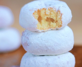 Mini Homemade Snowball Donuts
