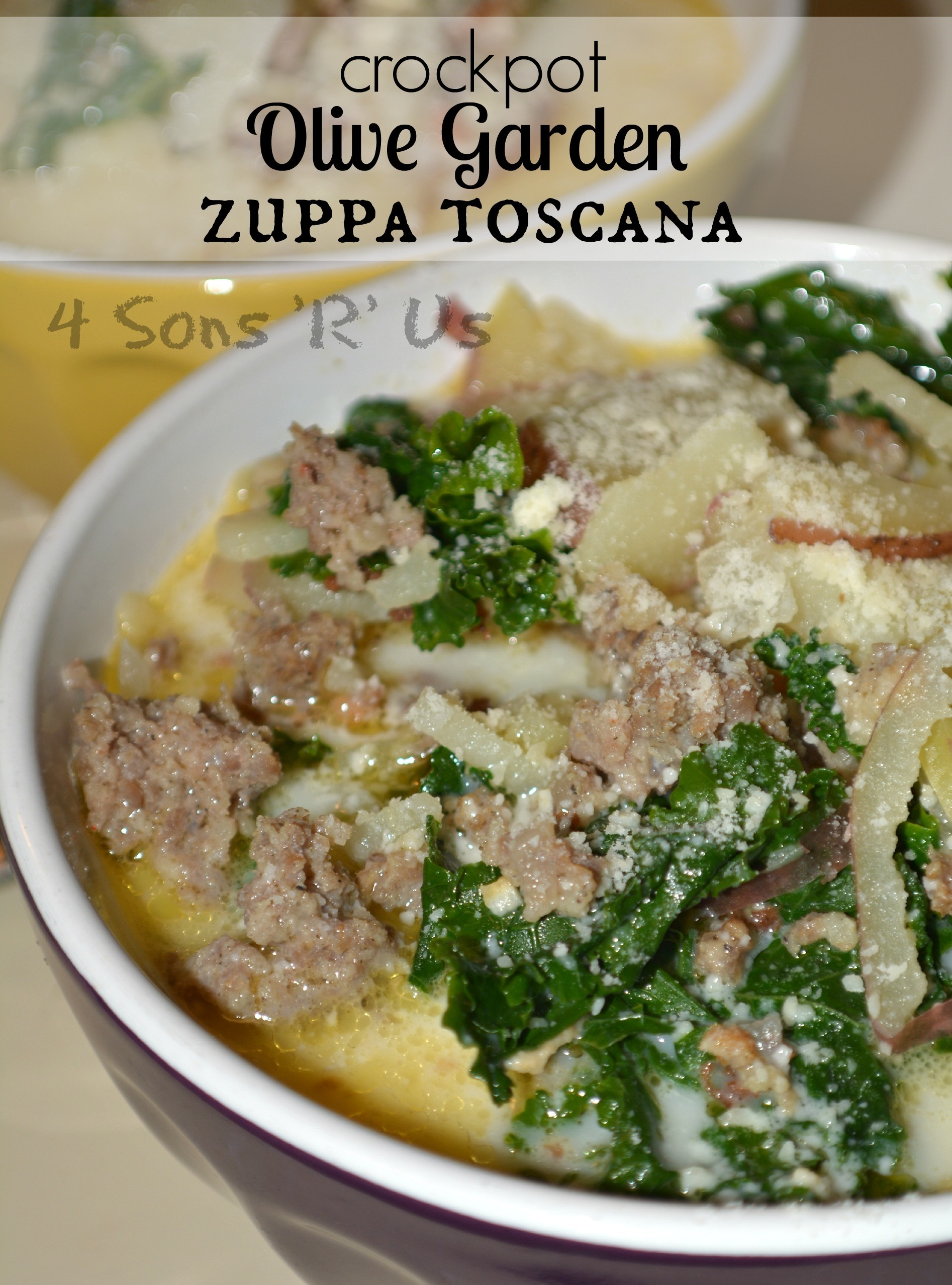 Slow Cooker Copy Cat Olive Garden Zuppa Toscana