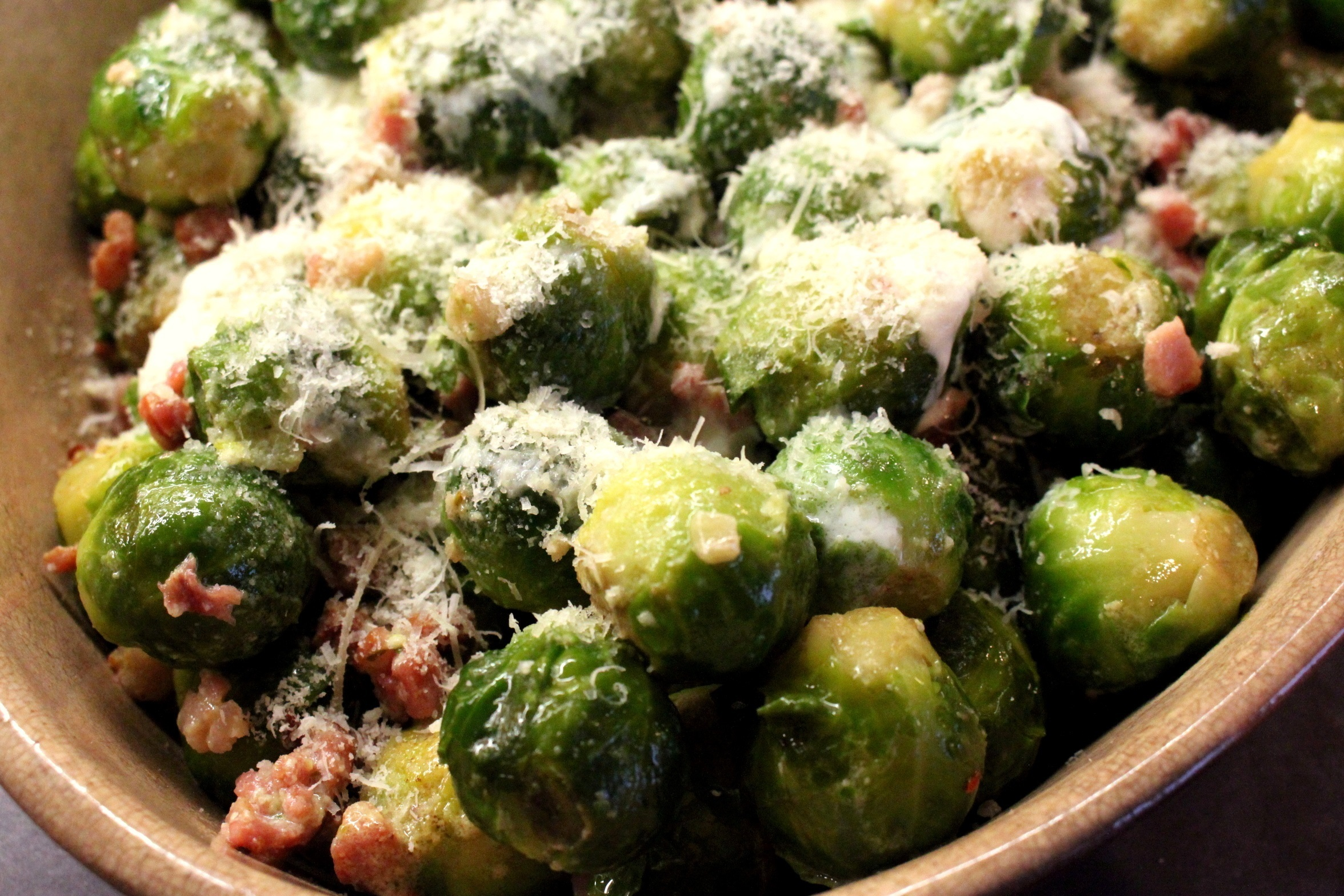 Rosenkohl mit Speck – Brussels Sprouts with Bacon