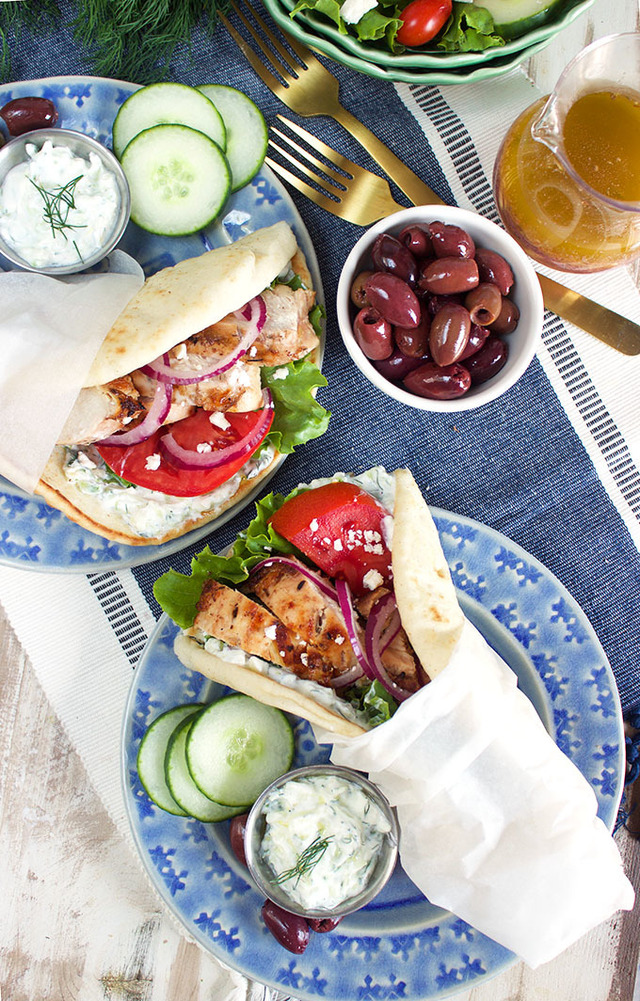 Grilled Chicken Gyro Recipe
