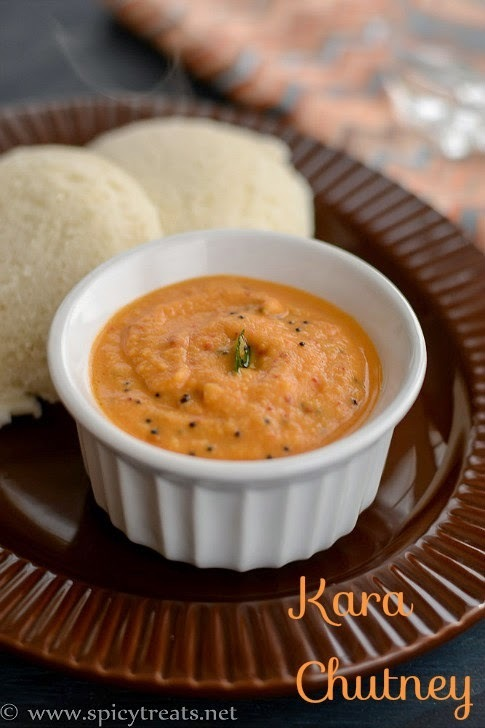 Kara Chutney Recipe | Tomato Chutney(without Coconut) for Idli/Dosa | Hotel Style Red Chutney For Idli