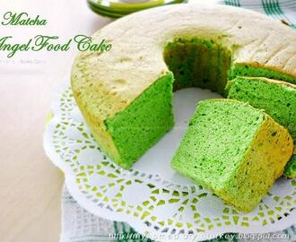 Matcha (Green tea) angel food cake recipe / Resep Matcha Angel food (cake dari putih telur)