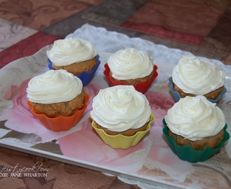 Banana-Strawberry Cupcakes W/ Buttercream Frosting