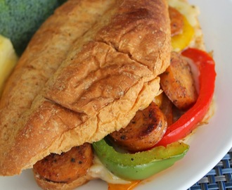Cajun Chicken Sausage Sandwiches