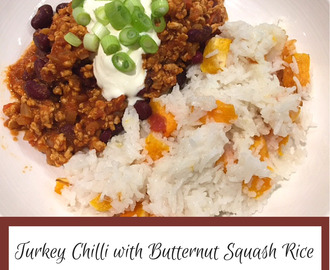 Turkey Chilli and Butternut Squash Rice
