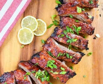 Sticky Sweet And Sour Baby Back Ribs #SundaySupper